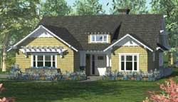 Craftsman Style Home Design Plan: 106-698