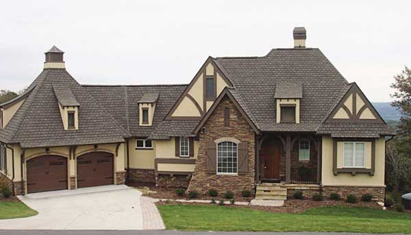 Tudor Style Home Design Plan: 106-699