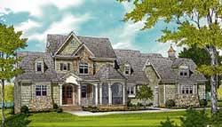 Craftsman Style Home Design Plan: 106-723
