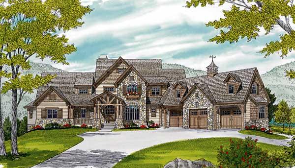 Craftsman Style Home Design Plan: 106-729
