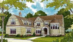 Hampton Style Floor Plans Plan: 106-733