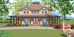 Coastal Style Home Design Plan: 107-101