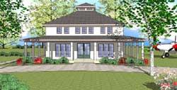 Coastal Style Home Design Plan: 107-102