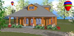 Country Style Home Design Plan: 107-103
