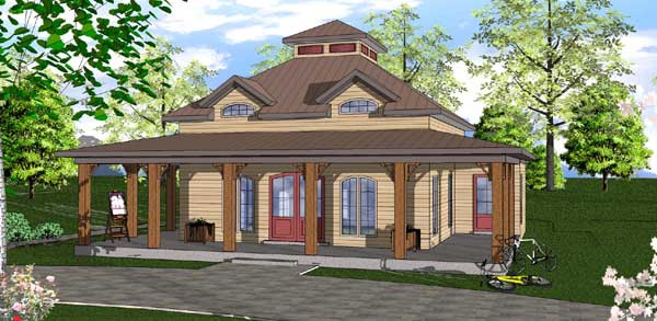 Coastal Style House Plans Plan: 107-104
