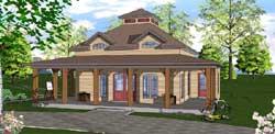 Coastal Style Floor Plans Plan: 107-104