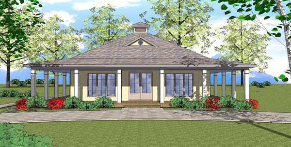 Coastal Style Home Design Plan: 107-105