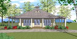 Coastal Style House Plans 107-105
