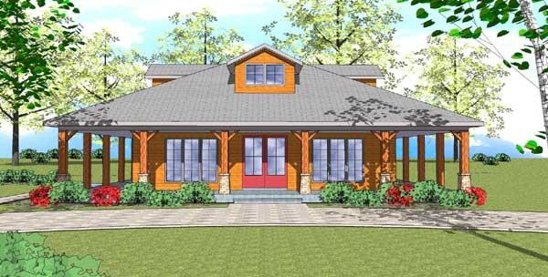 Coastal Style House Plans Plan: 107-106