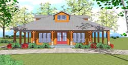Coastal Style Home Design Plan: 107-106