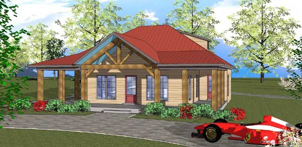 Mountain-or-rustic Style Floor Plans Plan: 107-108
