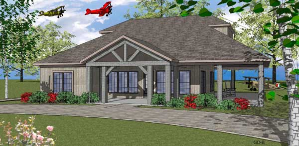 Mountain-or-rustic Style Home Design Plan: 107-109