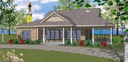 Coastal Style House Plans 107-110