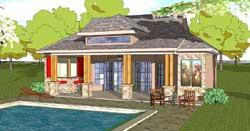 Coastal Style Home Design Plan: 107-113
