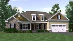 Craftsman Style House Plans Plan: 109-103