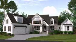 Modern-Farmhouse Style Home Design Plan: 109-108