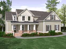Country Style House Plans 109-111