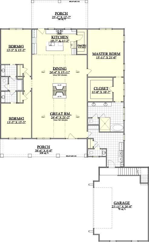 Main Floor Plan: 109-123
