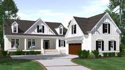 Modern-Farmhouse Style House Plans 109-123