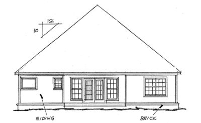 Rear Elevation Plan: 11-101