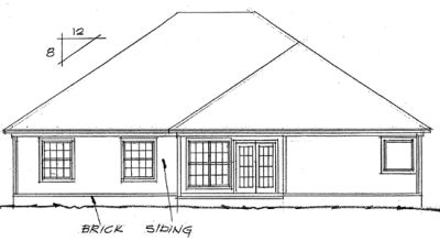 Rear Elevation Plan: 11-102