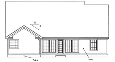 Rear Elevation Plan: 11-103