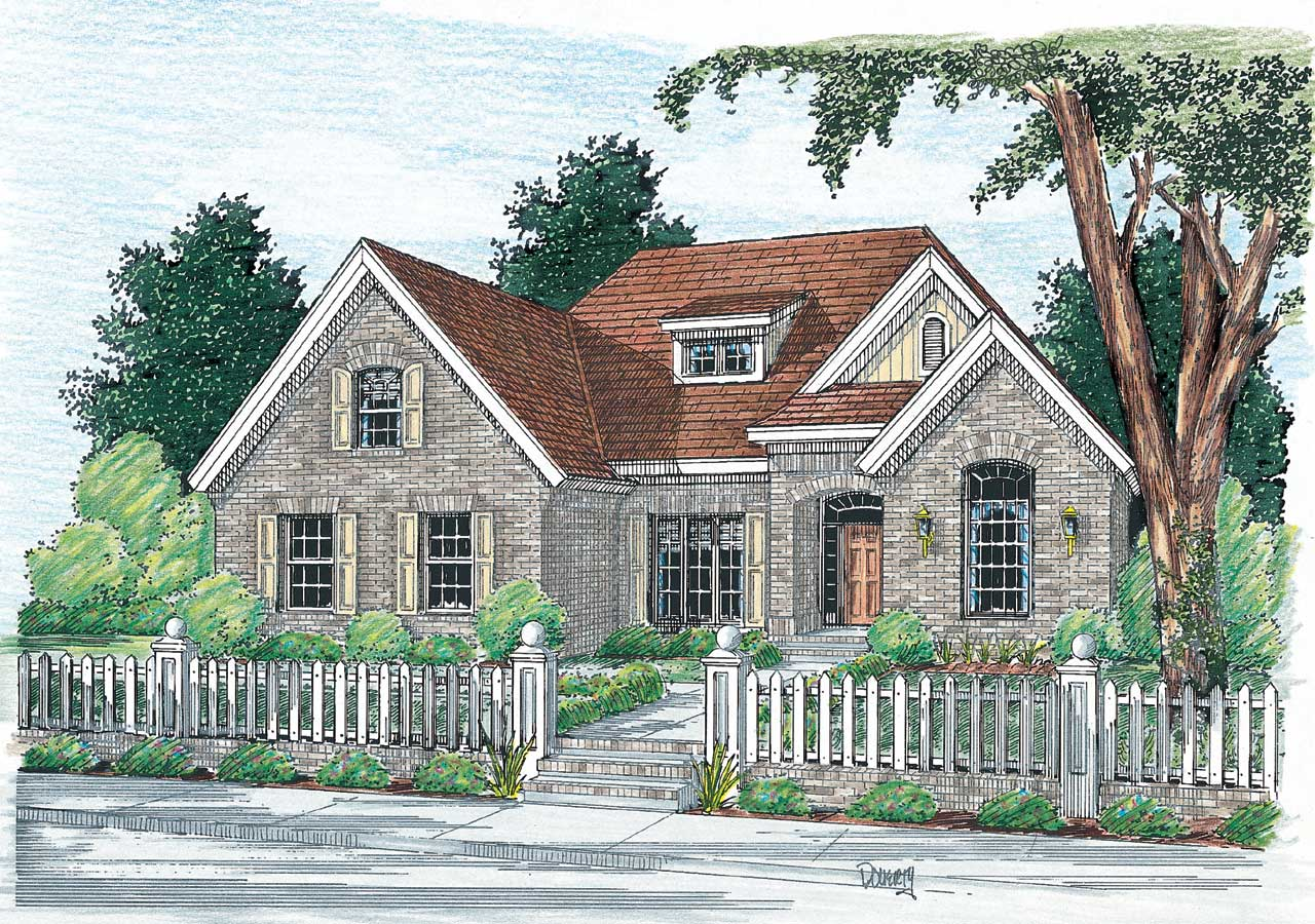 European Style Home Design Plan: 11-104