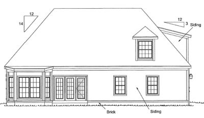 Rear Elevation Plan: 11-104