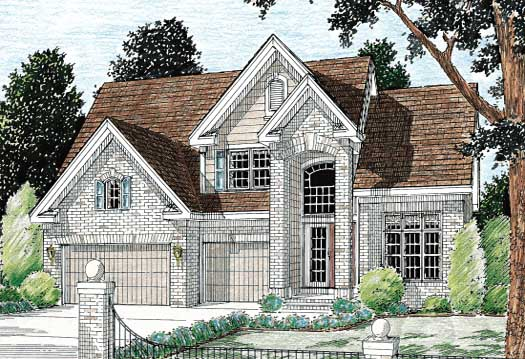 Traditional Style Home Design Plan: 11-105