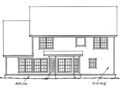 Rear Elevations Plan:11-105