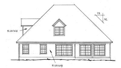Rear Elevation Plan: 11-106