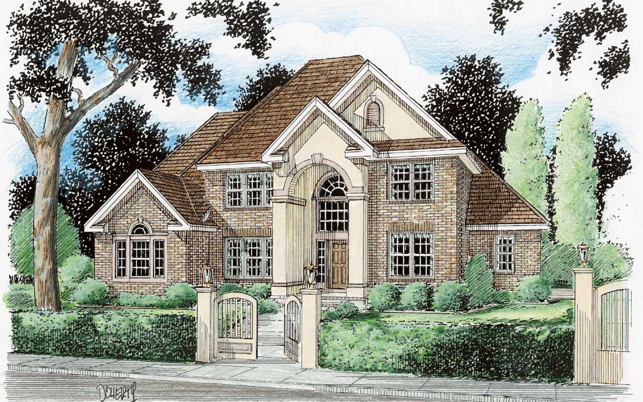 European Style House Plans Plan: 11-107