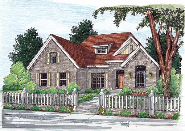 Traditional Style Home Design Plan: 11-108