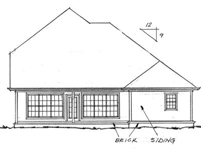 Rear Elevation Plan: 11-108