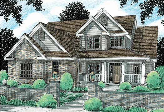 Country Style Floor Plans Plan: 11-109