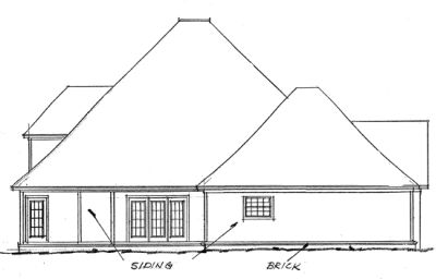 Rear Elevation Plan: 11-111