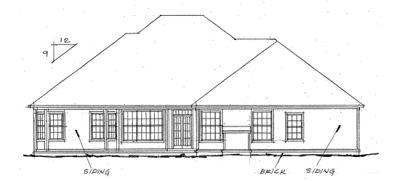 Rear Elevation Plan: 11-112