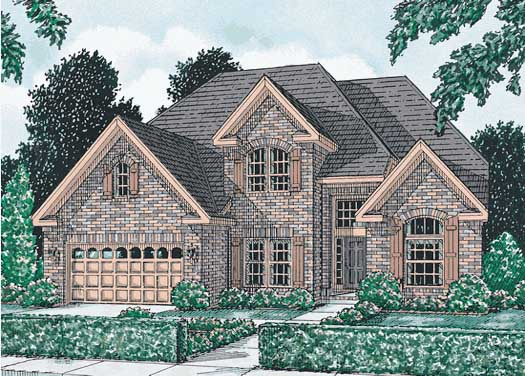 Traditional Style Home Design Plan: 11-113
