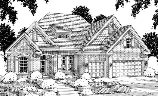European Style Home Design Plan: 11-116