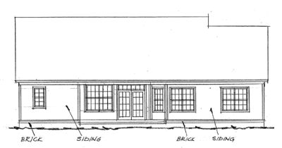 Rear Elevation Plan: 11-118