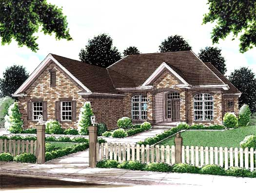 Traditional Style Home Design Plan: 11-119