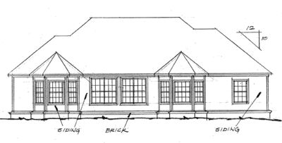 Rear Elevation Plan: 11-119