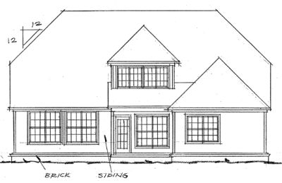 Rear Elevation Plan: 11-120