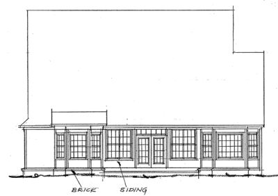 Rear Elevation Plan: 11-121