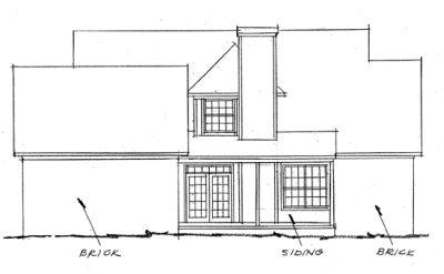 Rear Elevation Plan: 11-122
