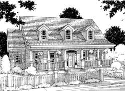 Country Style Home Design Plan: 11-122