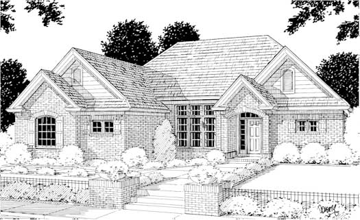 Traditional Style Home Design Plan: 11-123