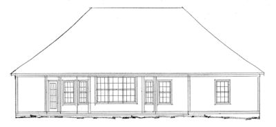 Rear Elevation Plan: 11-123