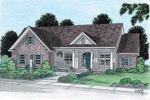 Country Style Home Design Plan: 11-124