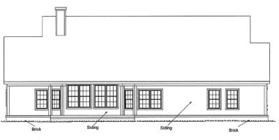 Rear Elevation Plan: 11-124